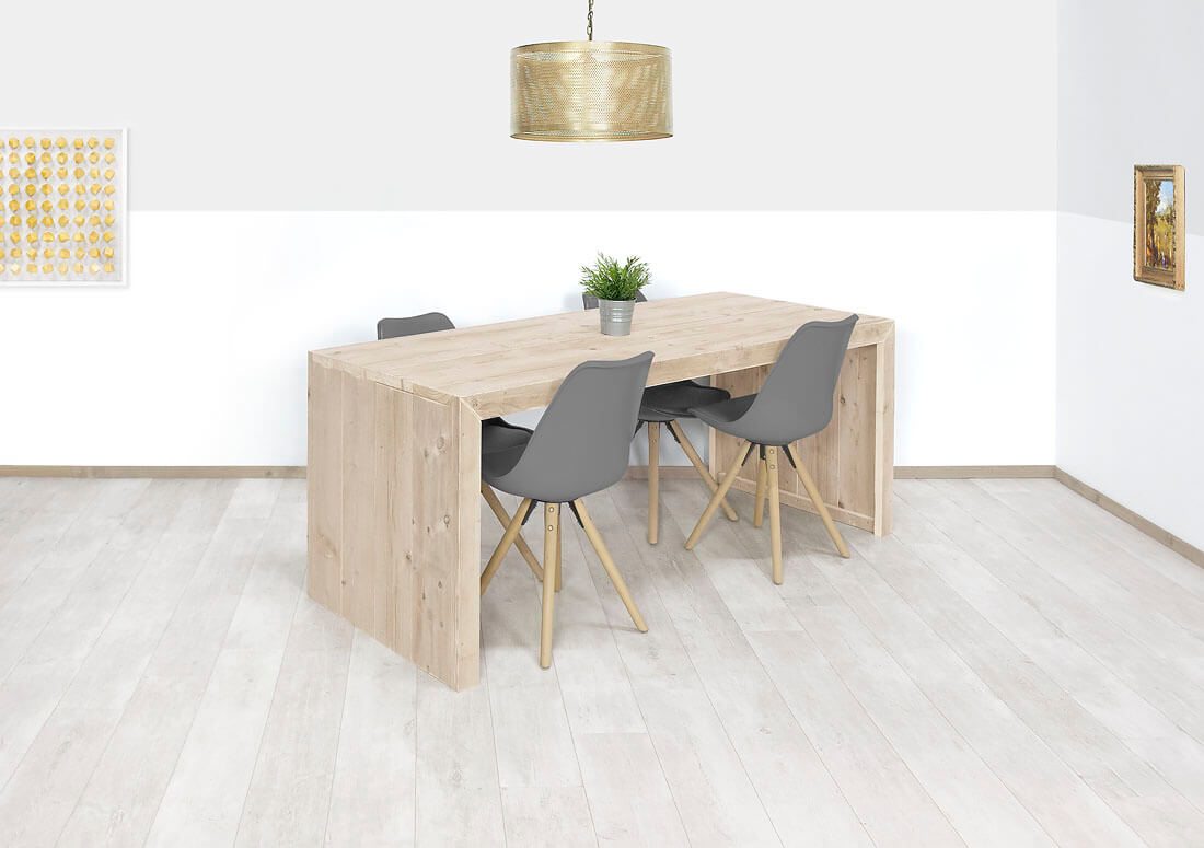 Steigerhouten tafel Miami