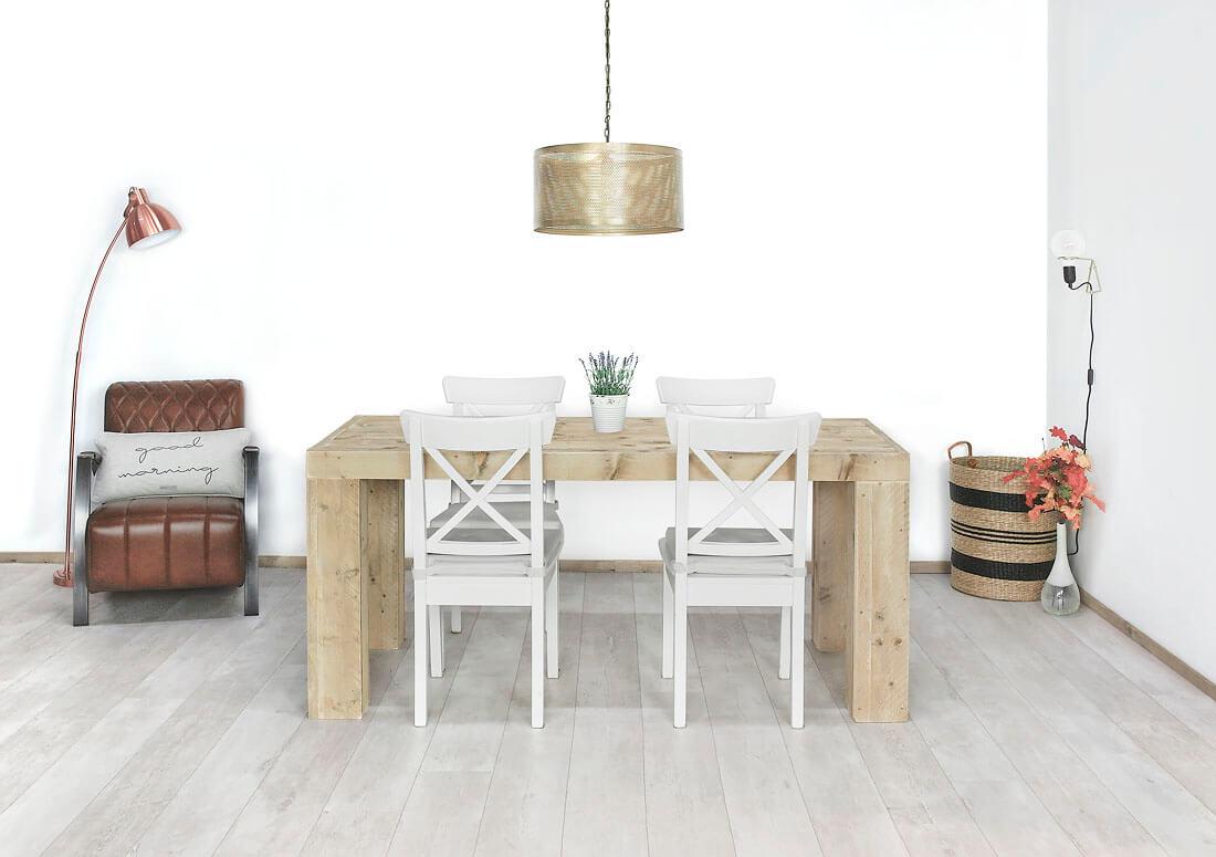 Steigerhouten tafel franeker