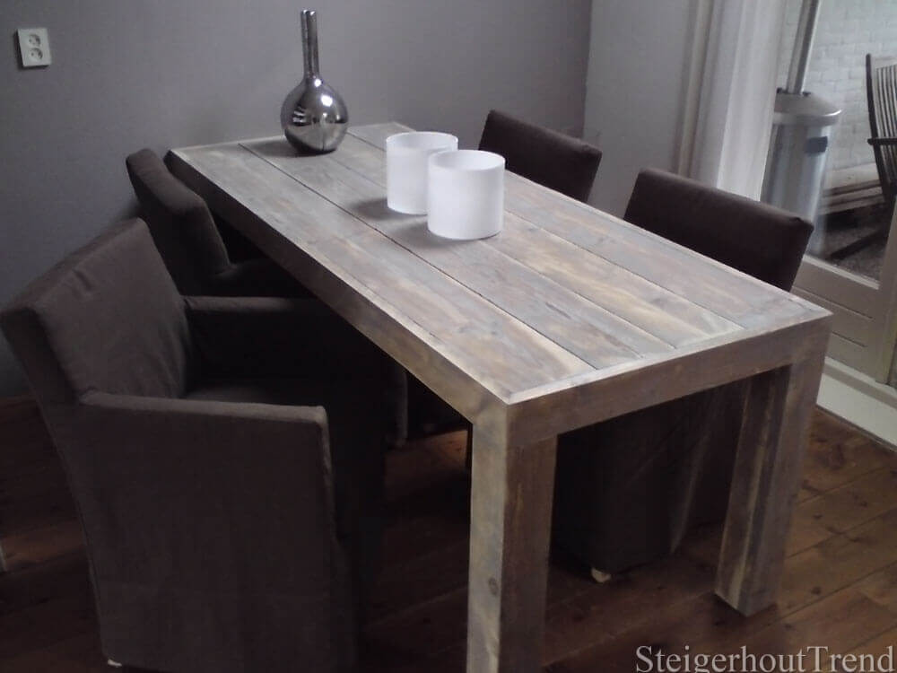 Steigerhouten tafel san francisco steigerhouttrend for Steigerhouten eettafel maken
