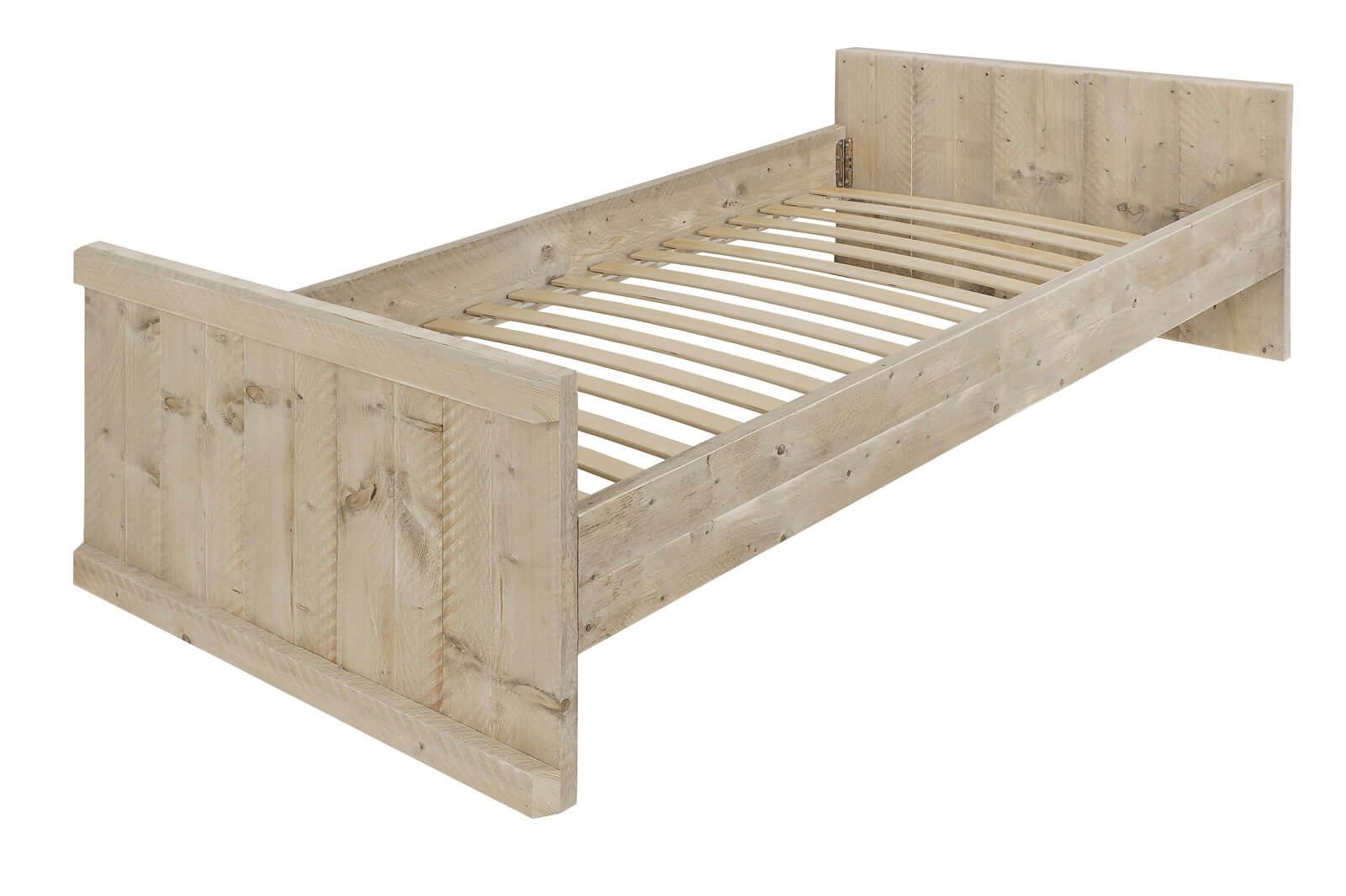 Nachtkastje Loods 5.Steigerhouten Bed Lakeside Voor Een Persoon Ook Kinderbed