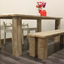 Steigerhouten tafel Denver