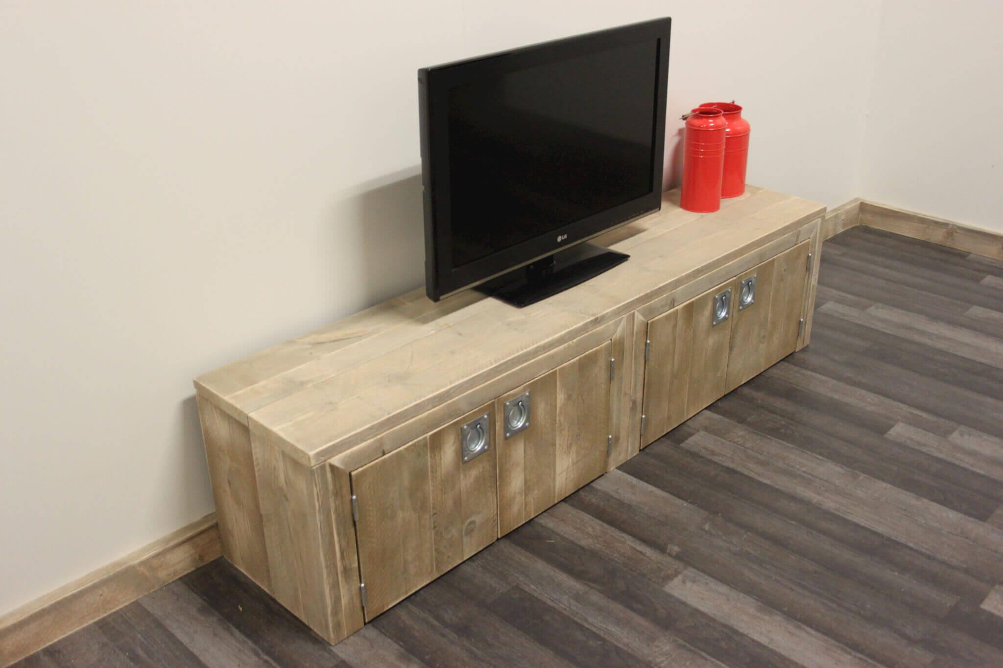 Steigerhouten tv meubel foresta steigerhouttrend for Steigerhout tv meubel maken
