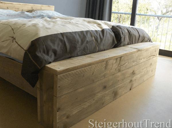 Steigerhouten bed warwick steigerhouttrend for Bed van steigerhout maken