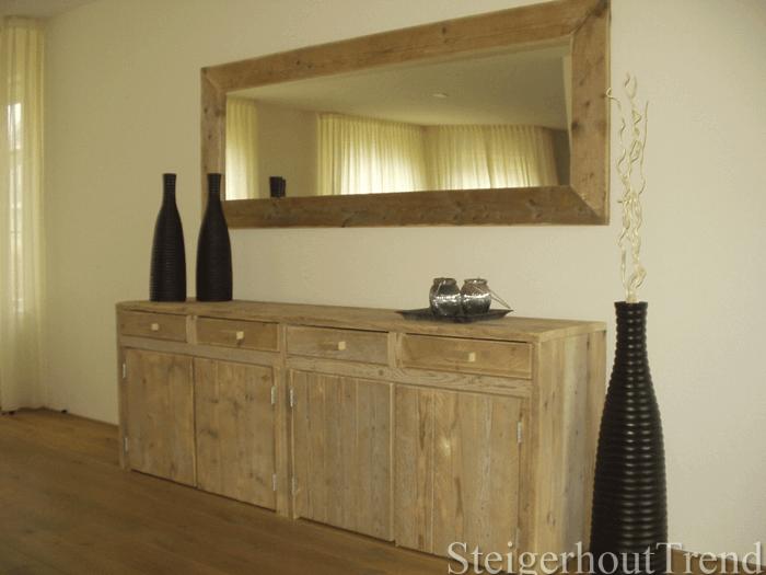 Wandkasten Steigerhout: Steigerhouten wandkast bureau à asse ...