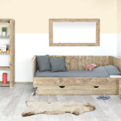 Steigerhouten bed Stockton