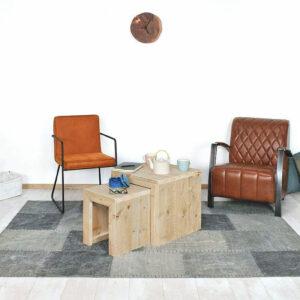 Steigerhouten salontafel Fleming