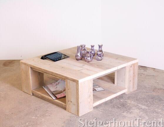 Steigerhouten salontafel Montrose