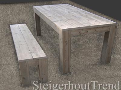 Steigerhouten Tafel Met Stevige Poten Op Maat Gemaakt