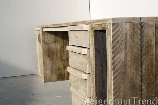 Steigerhouten bureau texas steigerhouttrend for Steigerhout bureau