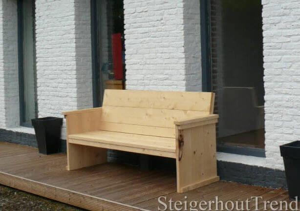 Steigerhouten Bank Onderhoud  Thuis tuinmeubelen lounge u banken loungebank vorm model hever