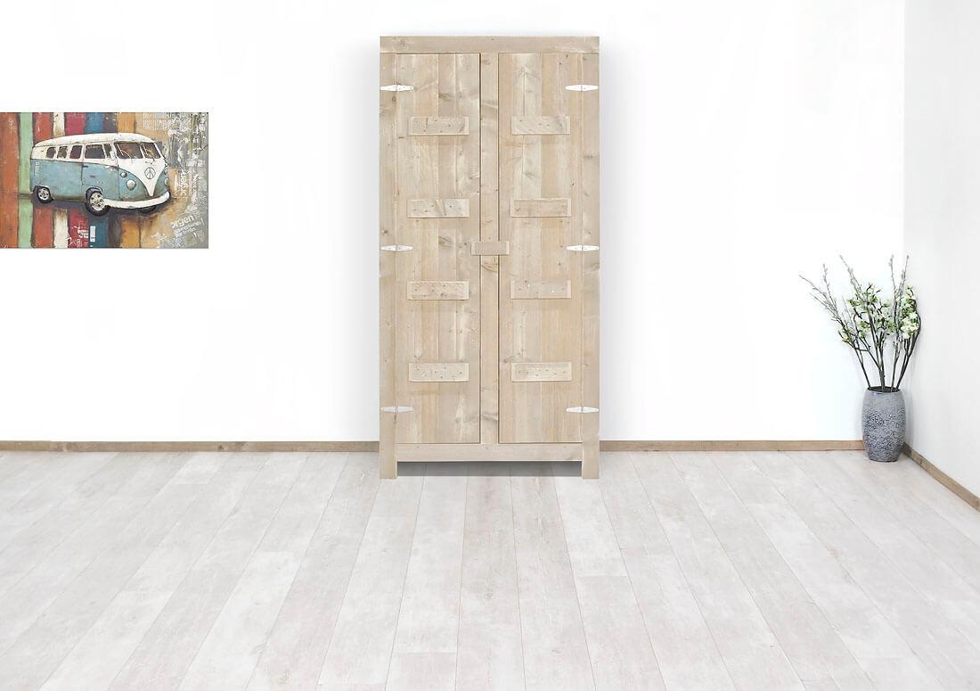Boekenkast Op Pootjes.Steigerhouten Kast Linares Met Legplanken Kopen Bestel Online Nu