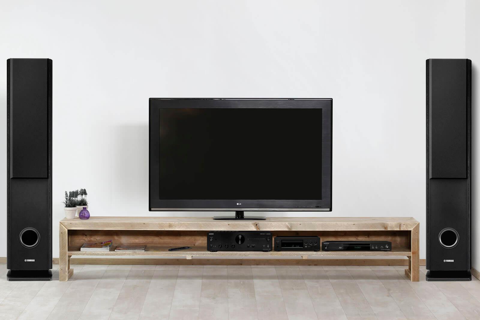 Steigerhouten tv meubel mio steigerhouttrend for Tv meubel kleine ruimte