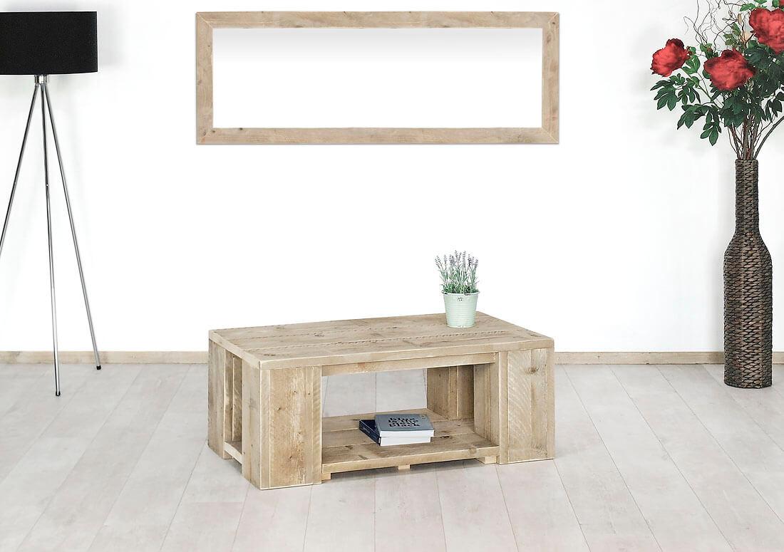 Steigerhouten salontafel Garland
