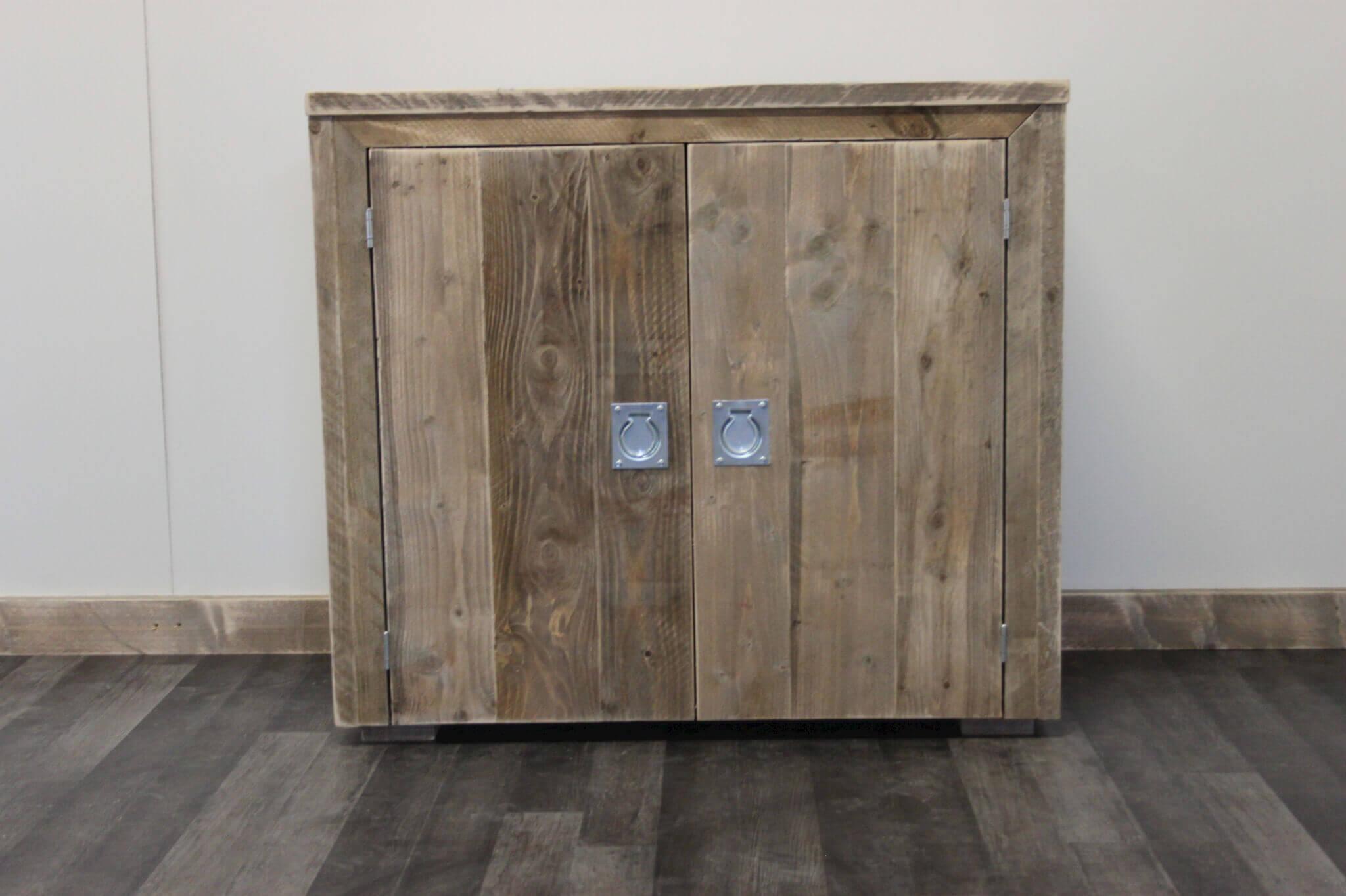 27 kast badkamer steigerhout brigee