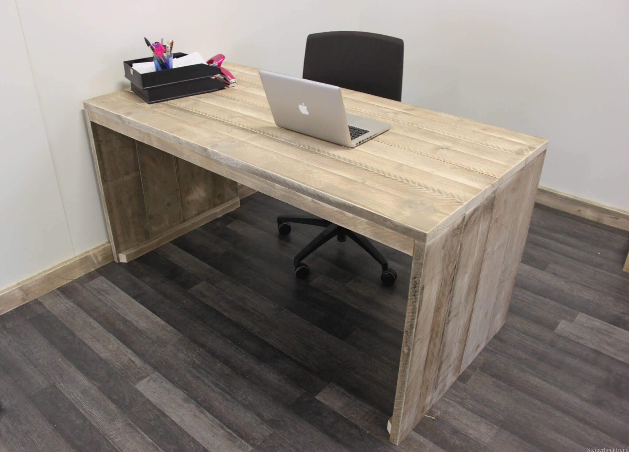 Steigerhouten bureau spencer steigerhouttrend - Eenvoudig slaapkamer model ...