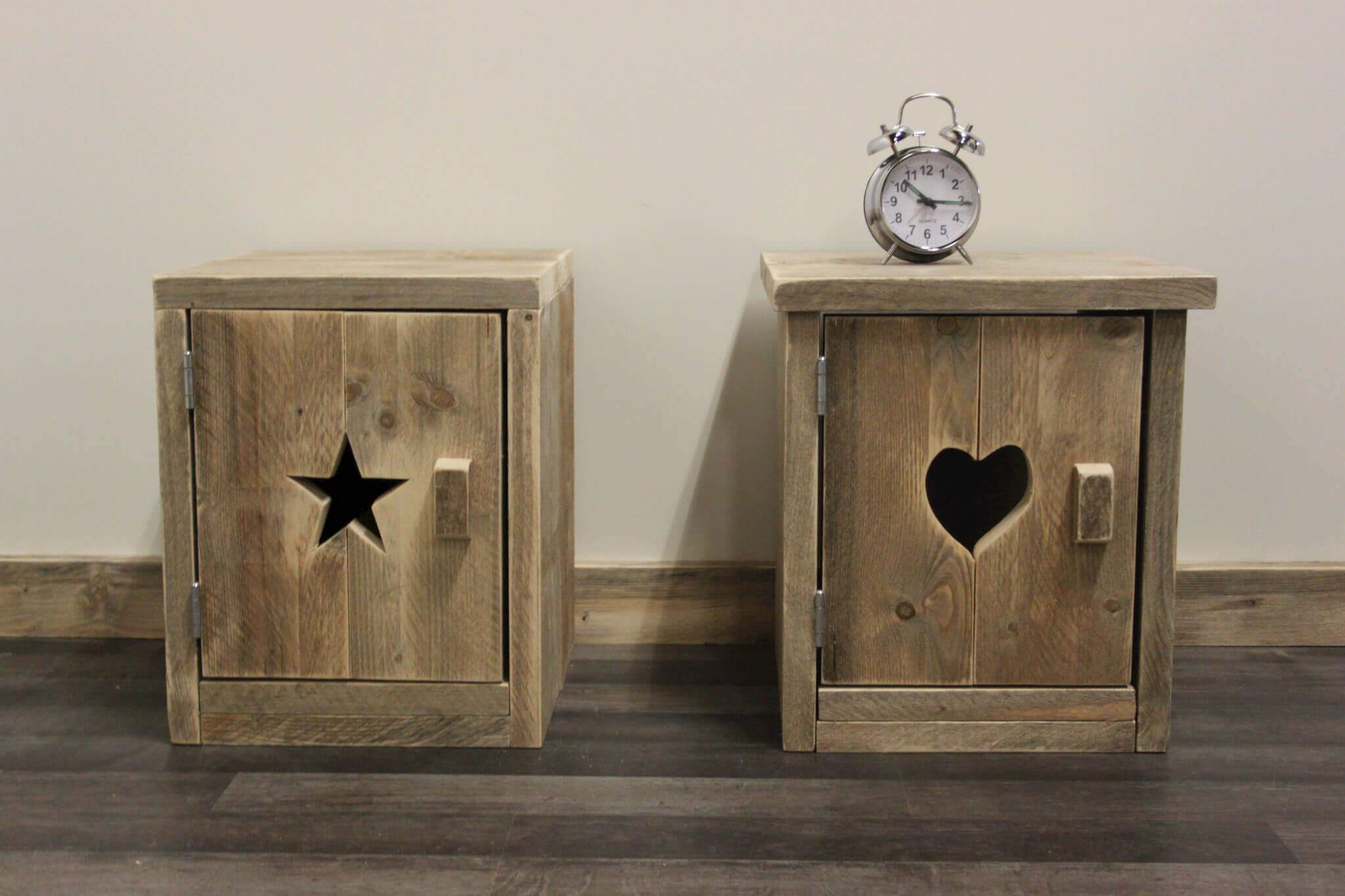 Steigerhouten nachtkastje casper steigerhouttrend meubelshop een onderdeel van loodsxl - Een nachtkastje ...