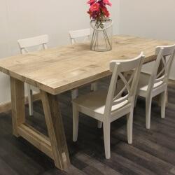 Steigerhouten tafel Vernon