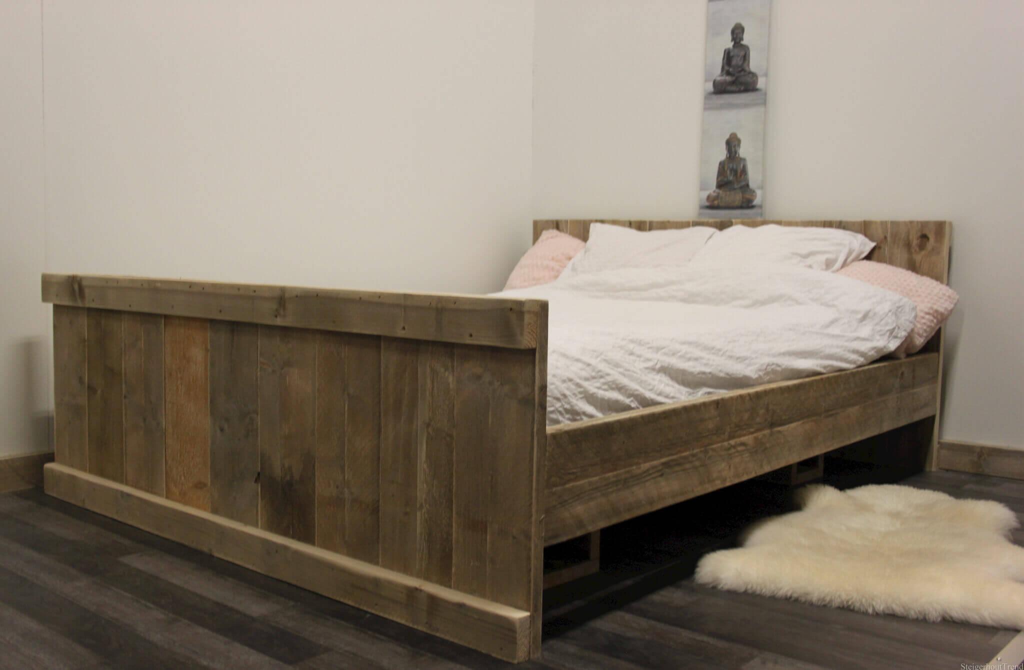 Steigerhouten bed tulsa steigerhouttrend for Bed slaapkamer