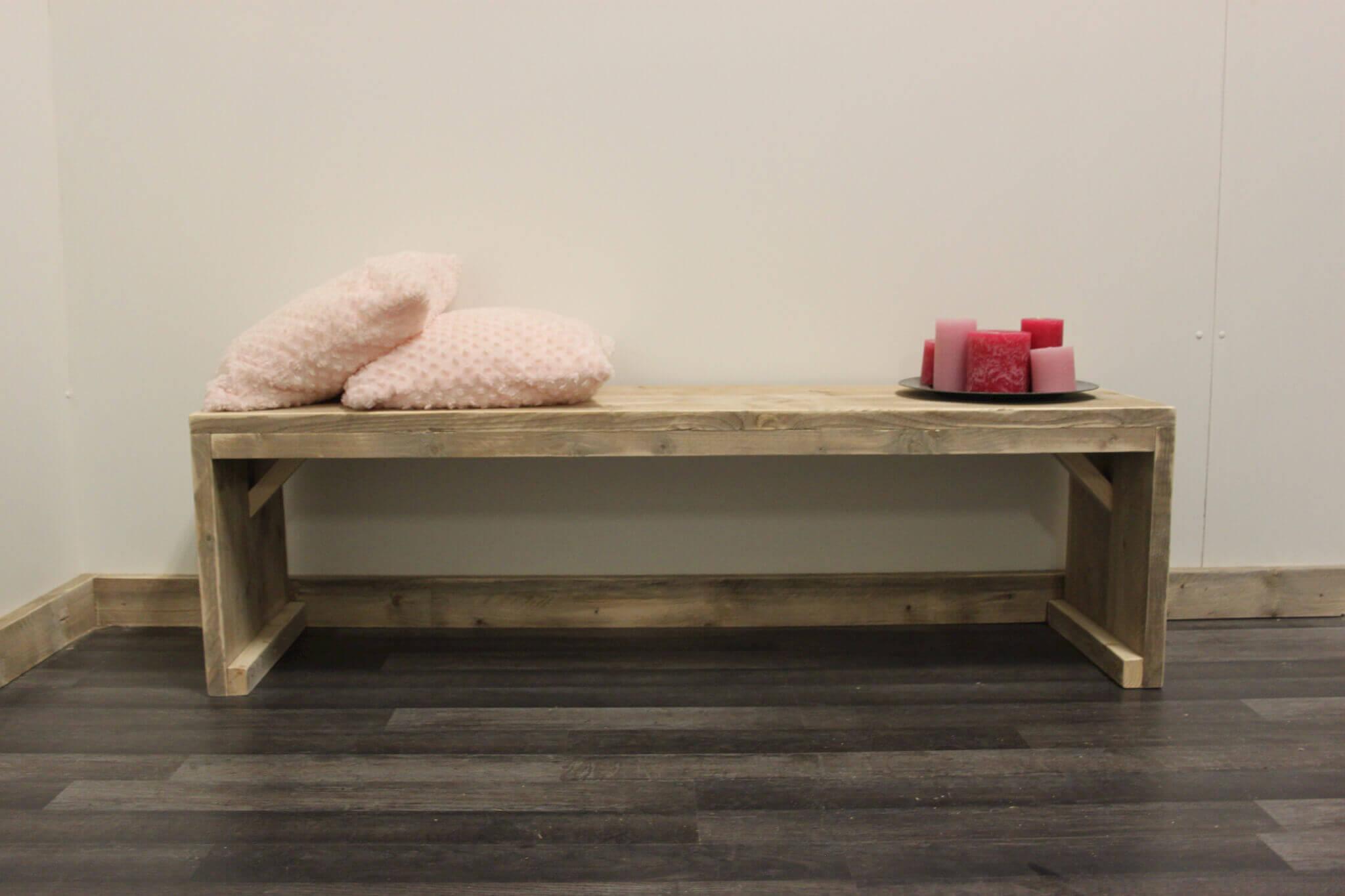 Steigerhouten bankje waco steigerhouttrend - Eenvoudig slaapkamer model ...