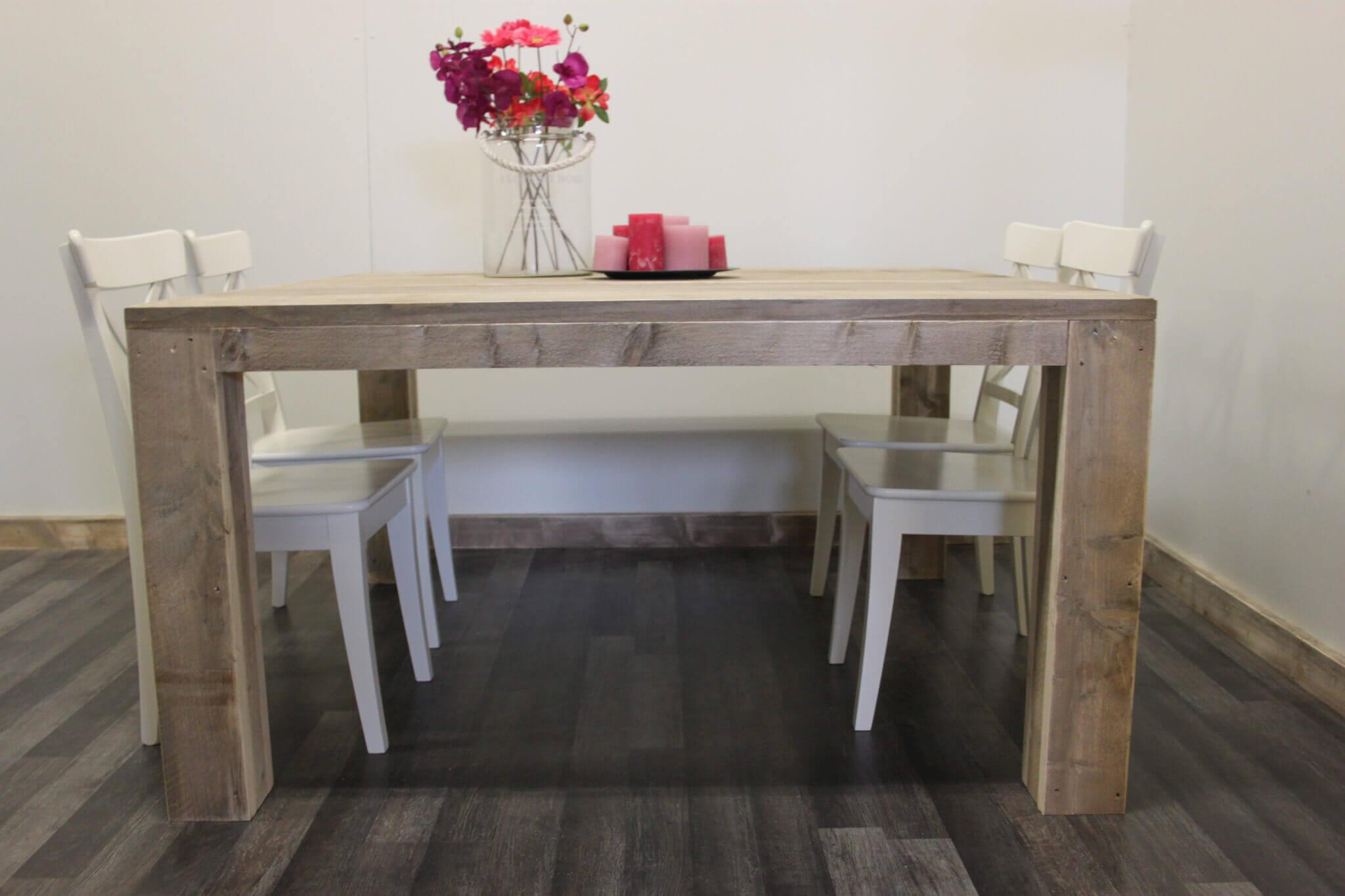 Steigerhouten tafel tampa steigerhouttrend - Eettafel personen ...