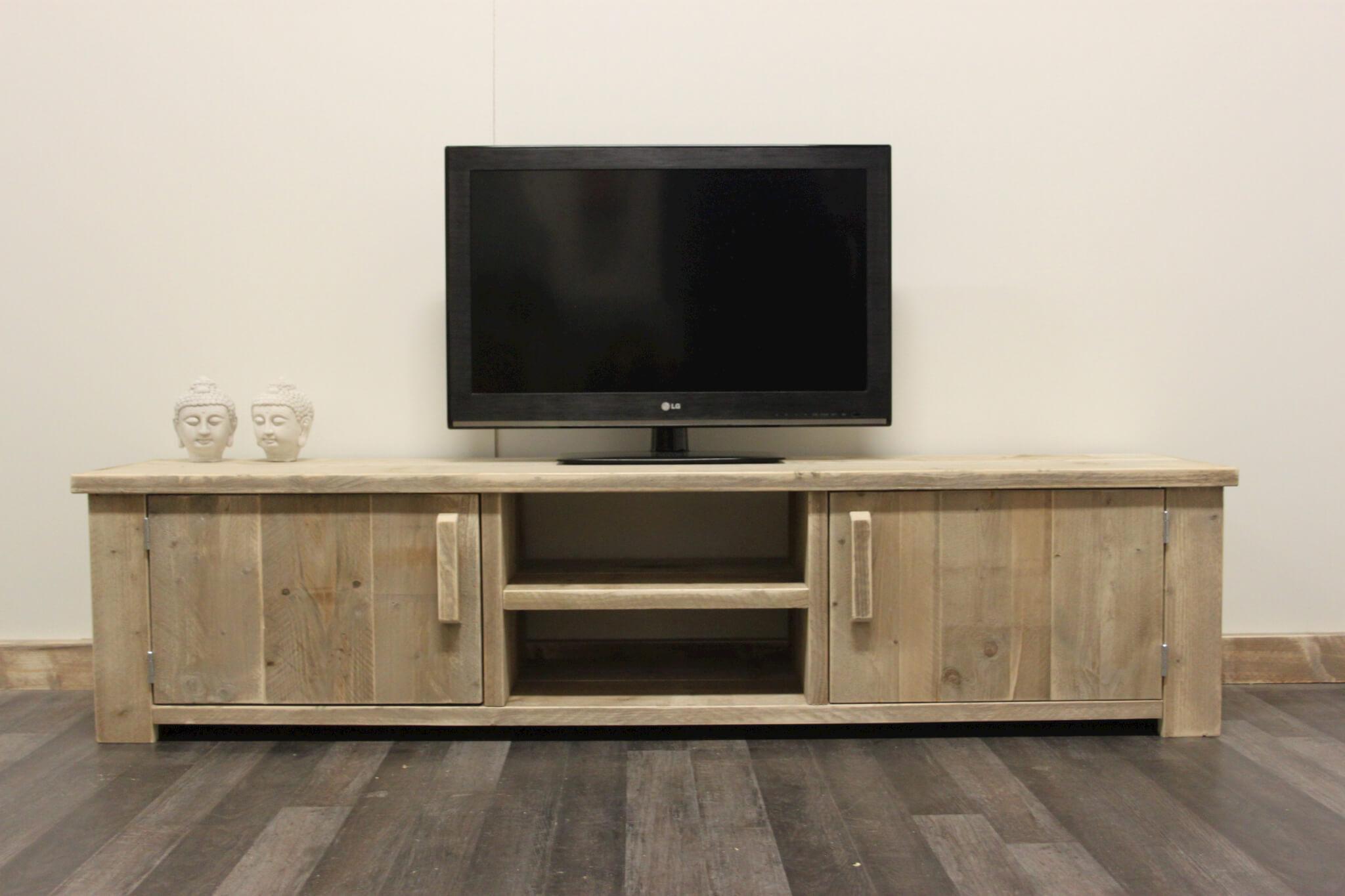 Steigerhouten tv meubel madras steigerhouttrend for Steigerhout tv meubel maken
