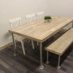 Steigerhouten tafel Enid