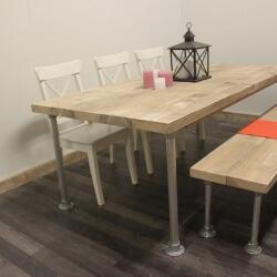 Steigerhouten tafel Selma