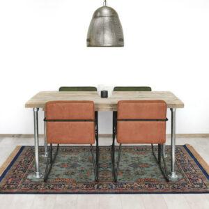 Steigerhouten tafel met steigerbuizen Enid