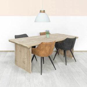 Steigerhouten tafel Fremont