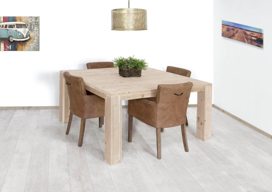 Mooie Steigerhouten Eettafel.Steigerhouten Vierkante Tafel Tampa Kopen Bestel Online Nu 20