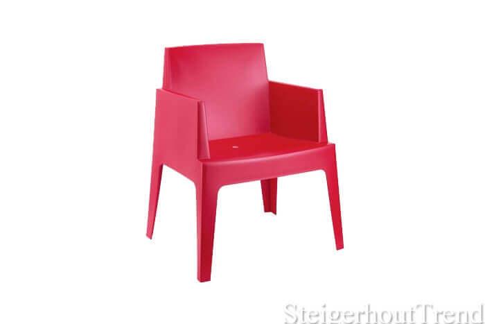 Box stoel rood
