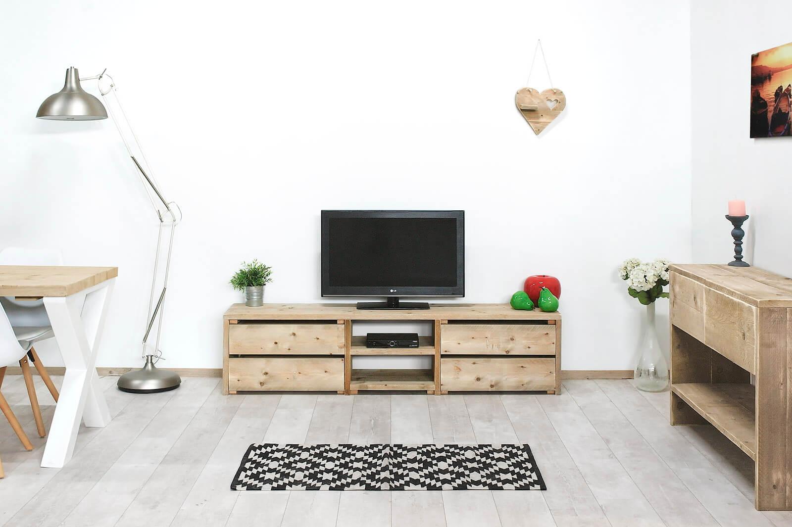 Steigerhouten TV meubel Mariposa