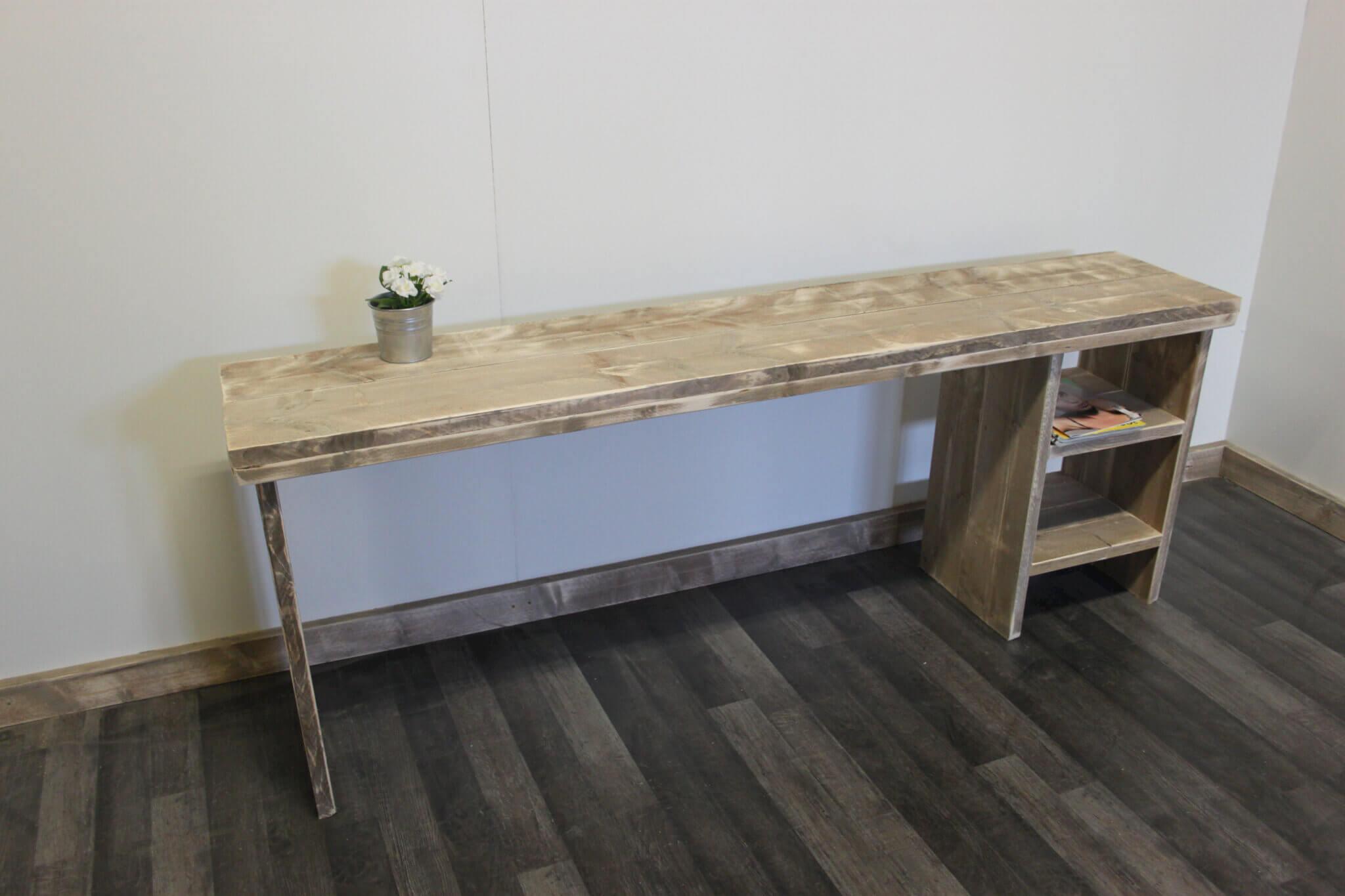 Steigerhouten bureau lisbon steigerhouttrend for Bureau 40 cm