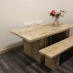 Steigerhouten tafel Yuba