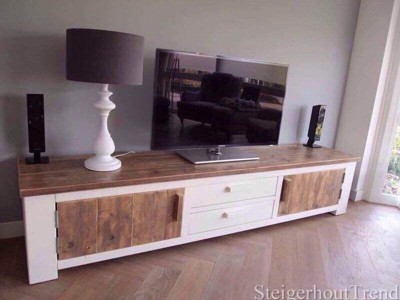 Steigerhouten tv meubel cloud steigerhouttrend for Zitbank steigerhout