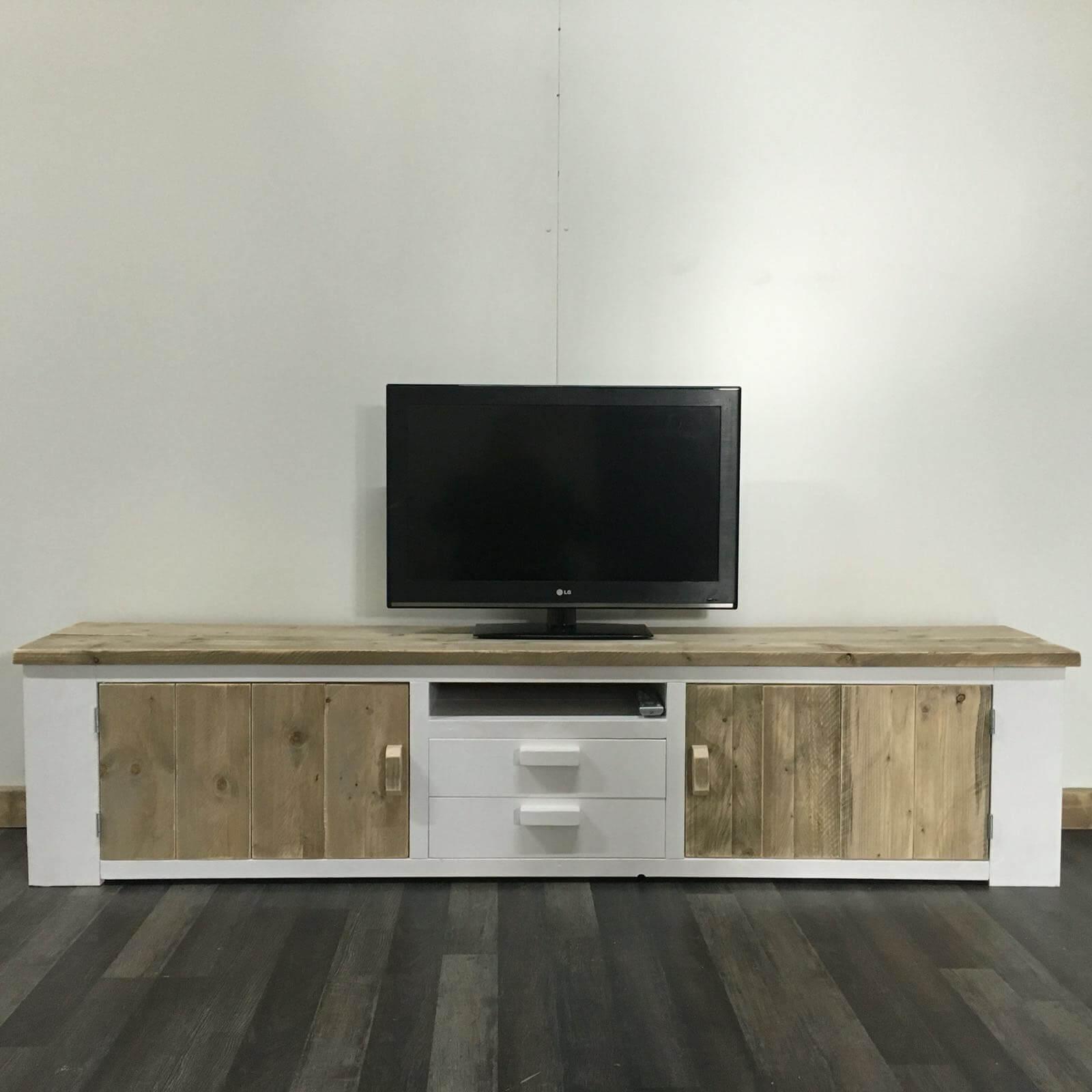 Steigerhouten TV meubels in landelijke stijl – SteigerhoutTrend
