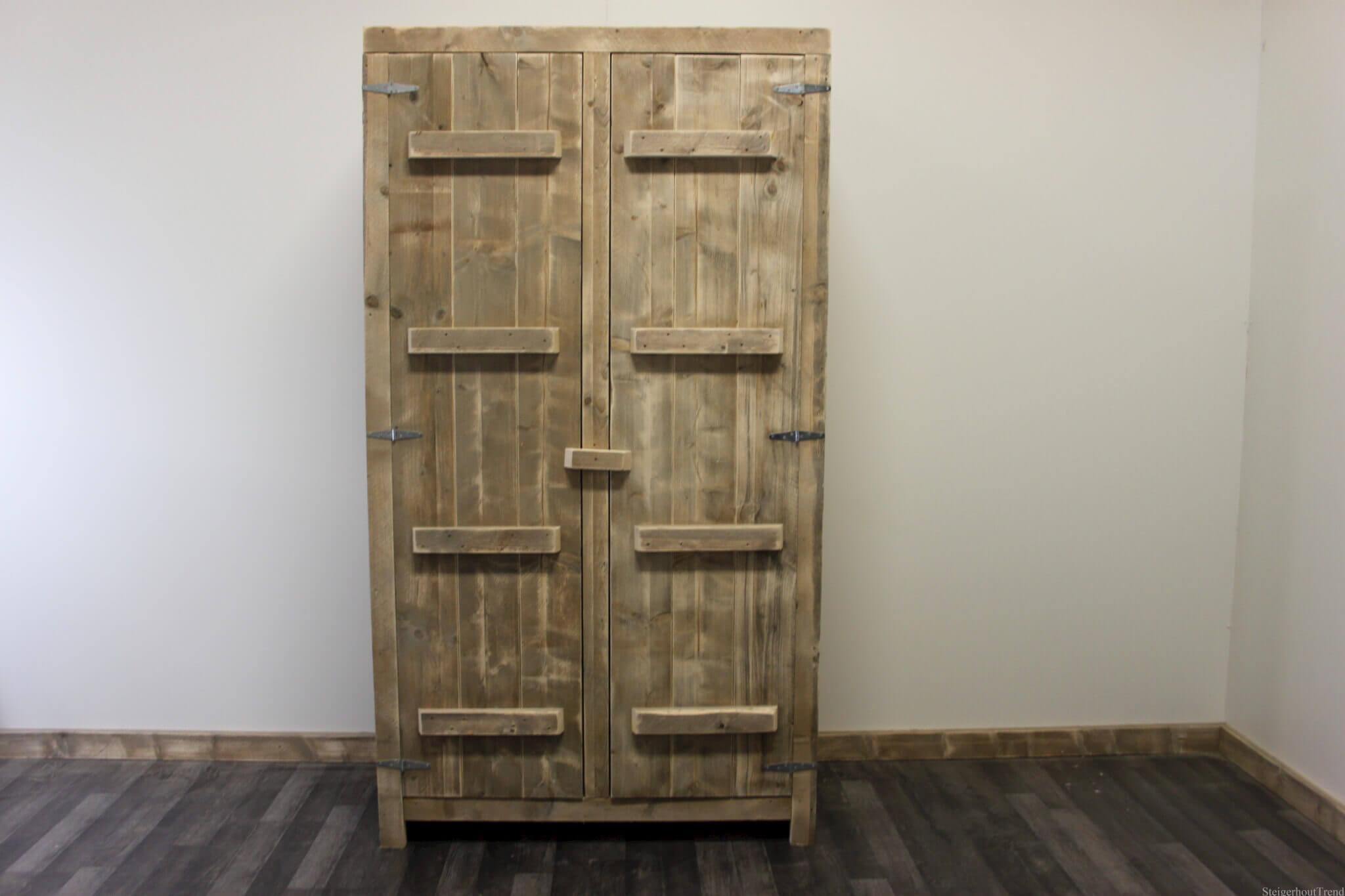 Handgrepen Keuken Bestellen : Steigerhouten kast Linares – SteigerhoutTrend