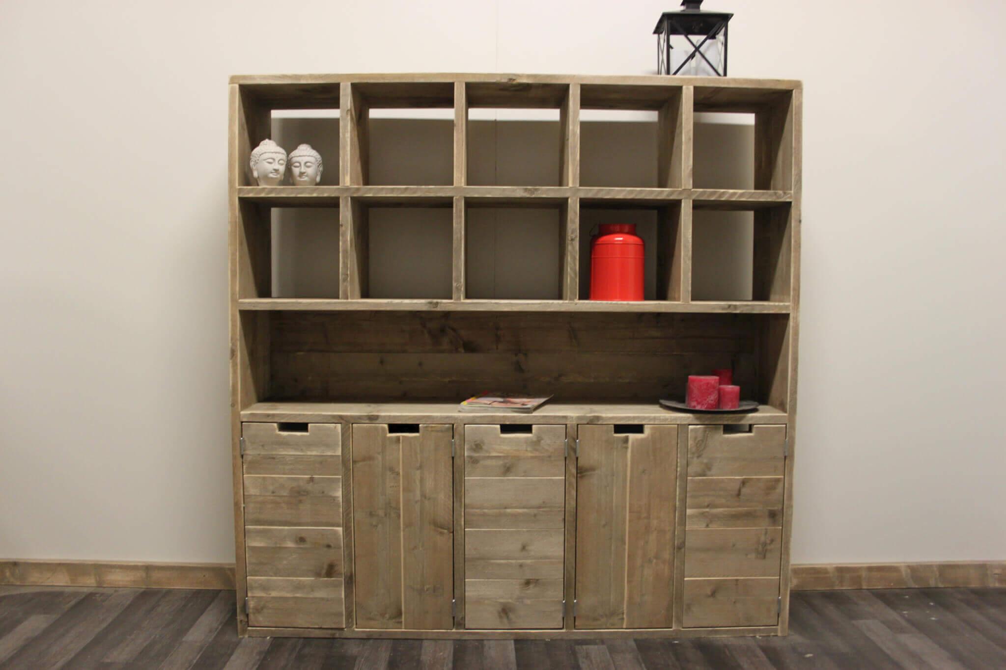 Open Opbergkast Badkamer : Open kast steigerhout. is dit uw maat of kleur niet geen probleem