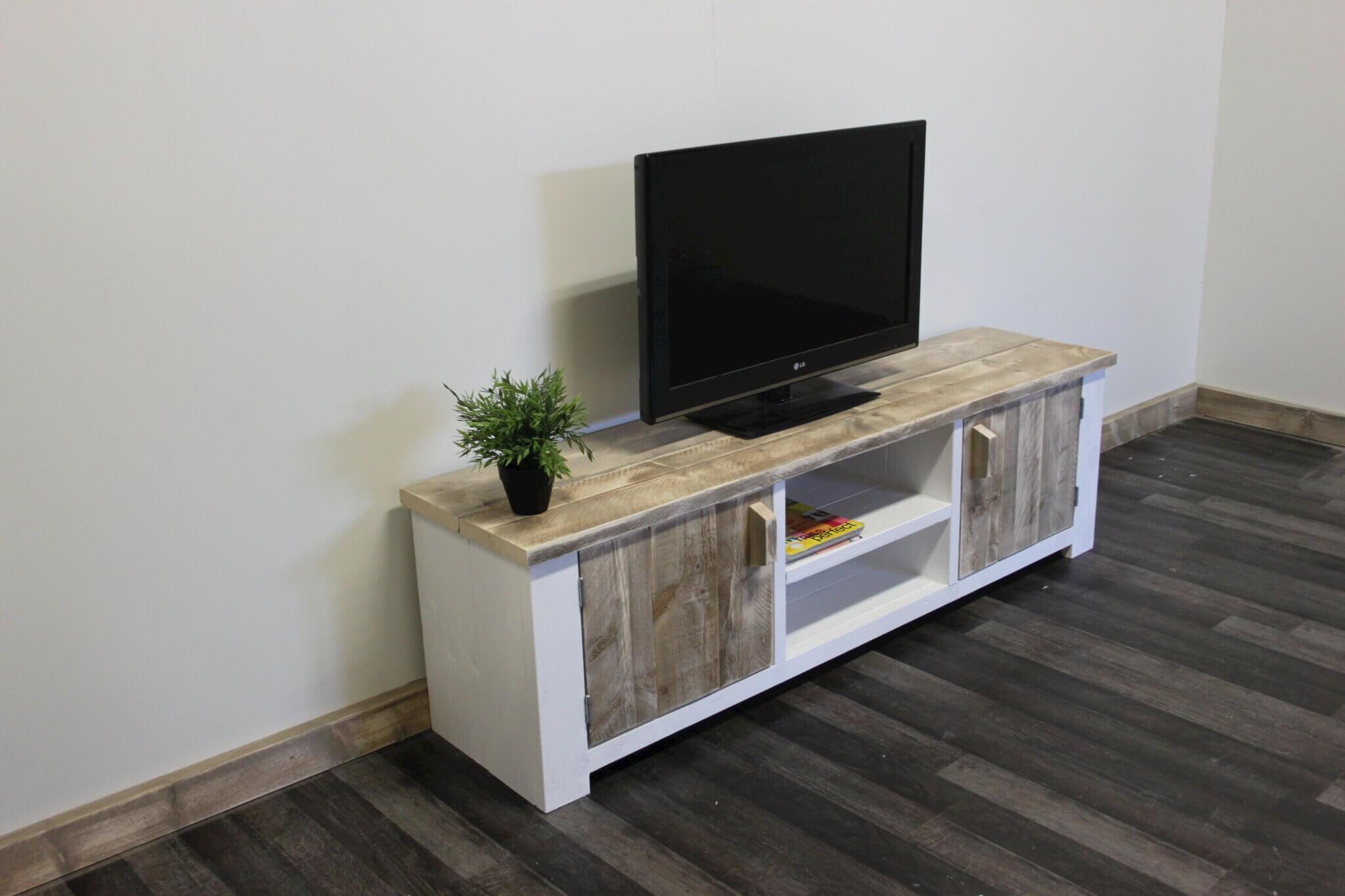 Tv Meubel Landelijk : Landelijk tv meubel bo deuren open vak ral