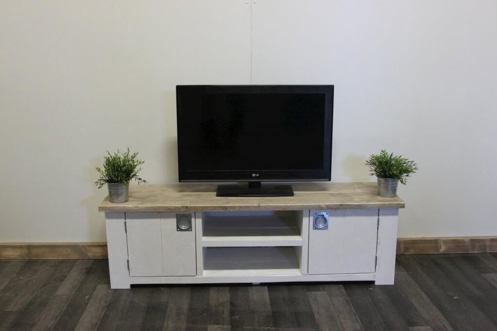 Ikea Boekenkast Tv Meubel.Steigerhouten Tv Meubel Eunice Landelijk Model 20 Bestel Nu