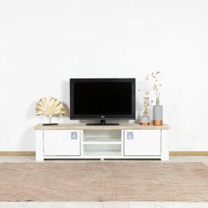 Steigerhouten TV meubel Eunice landelijk model