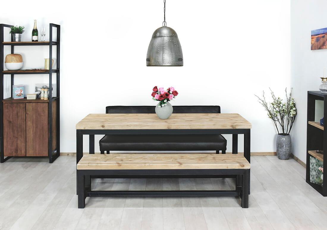 Steigerhouten tafel Norman