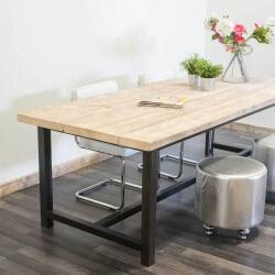 Steigerhouten industriële tafel Norman