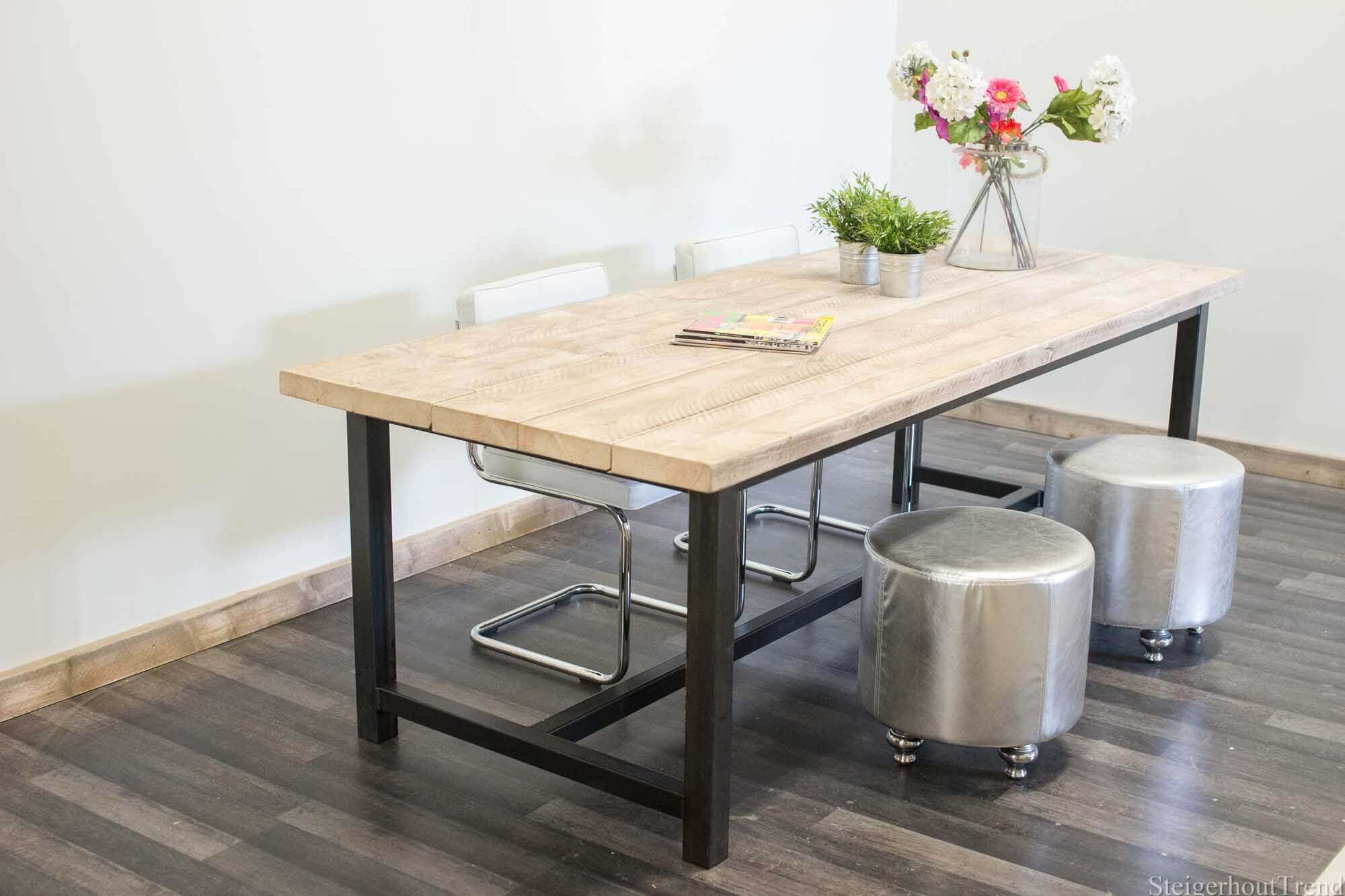 Steigerhouten Tafel Maken : Steigerhouten tafel norman  outlet