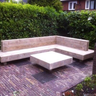 Loungebank steigerhout aanbieding