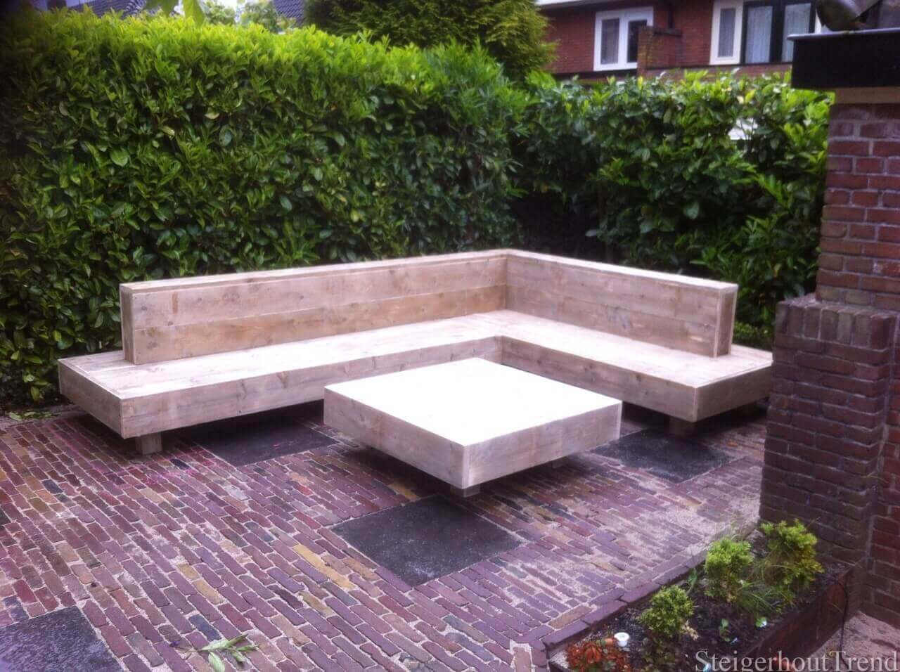 Hoe Maak Ik Een Steigerhouten Loungebank.Steigerhouten Design Loungebank Randstad Kopen Bestel Online Nu 20