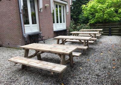 Steigerhouten picknick tafel Stokane