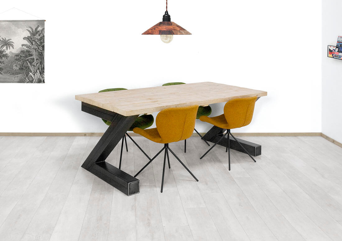 Steigerhouten tafel Yakima