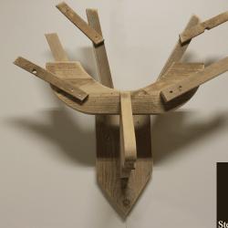 Steigerhouten hertenkop Rudolph