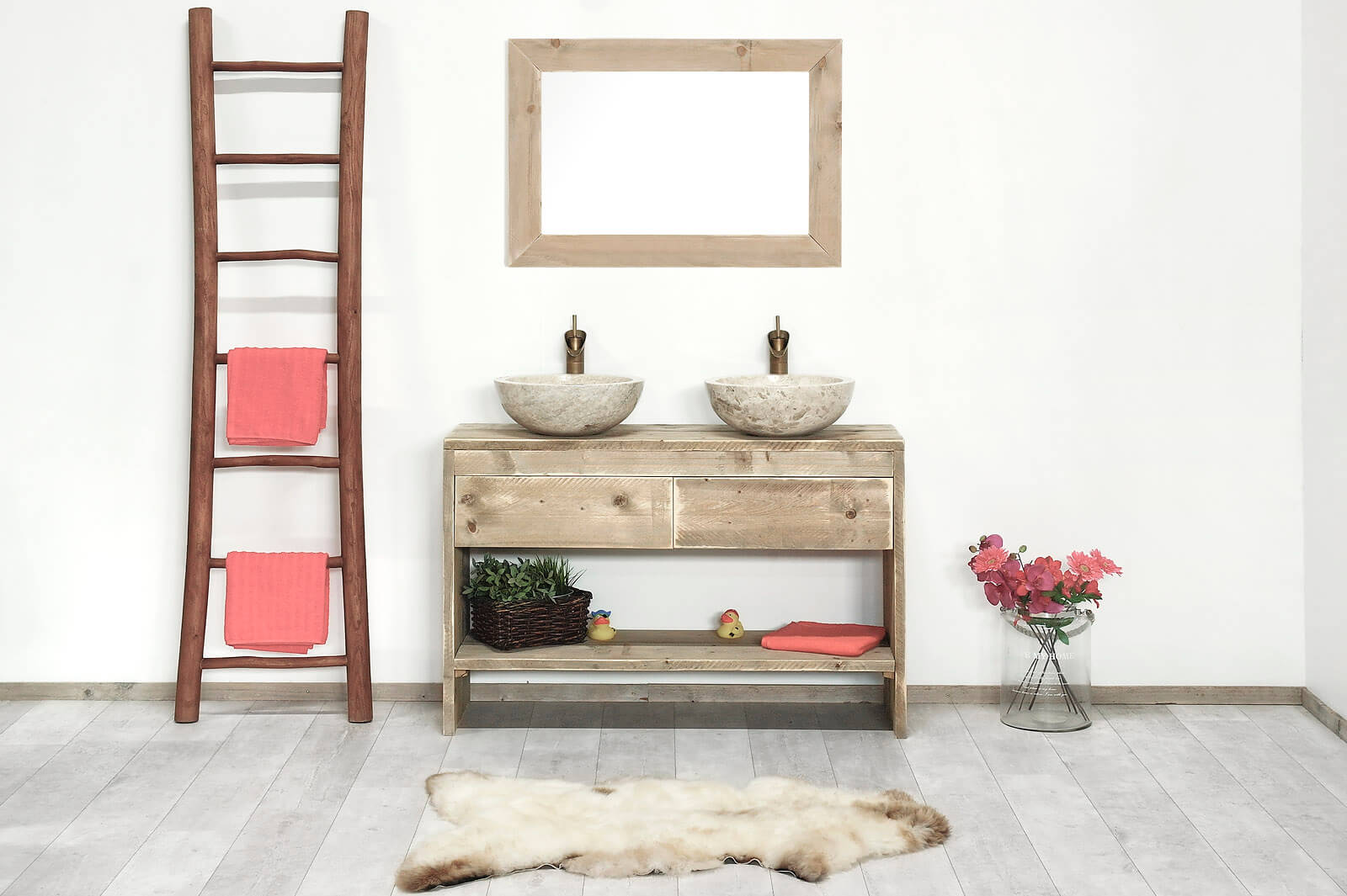 steigerhouten badkamer meubel fallon � steigerhouttrend